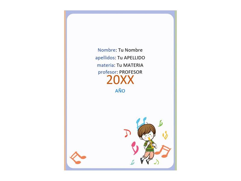 Caratula y Portada de Musica en Word 8