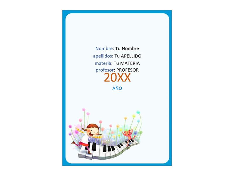 Caratula y Portada de Musica en Word 9