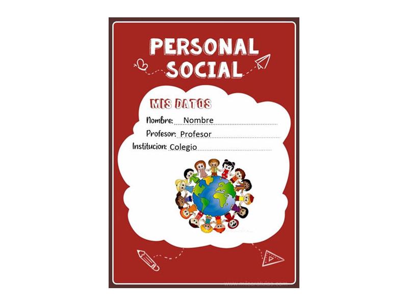 Caratula y Portada de Personal Social en Word 10