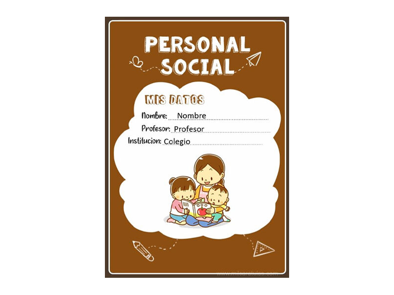 Caratula y Portada de Personal Social en Word 11