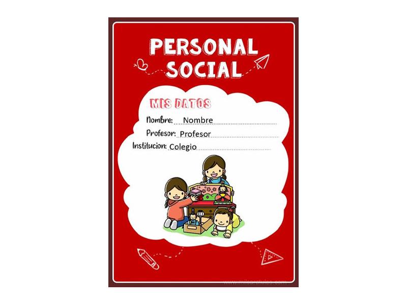 Caratula y Portada de Personal Social en Word 12