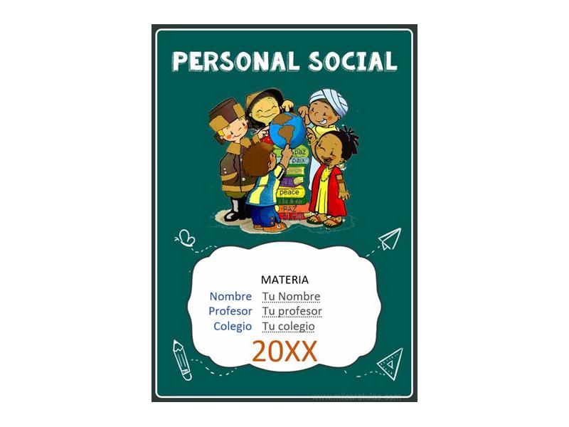 Caratula y Portada de Personal Social en Word 6