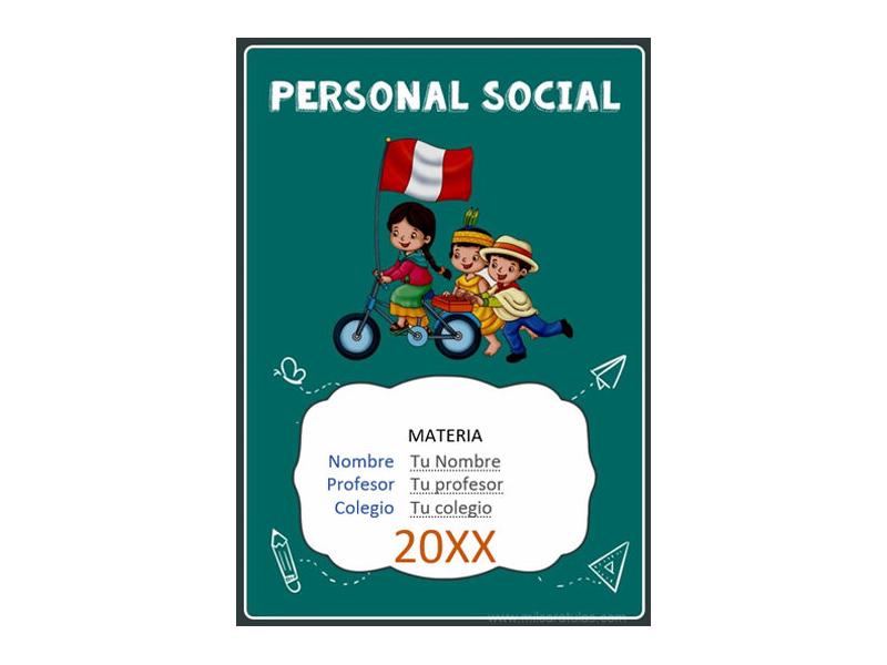 Caratula y Portada de Personal Social en Word 8