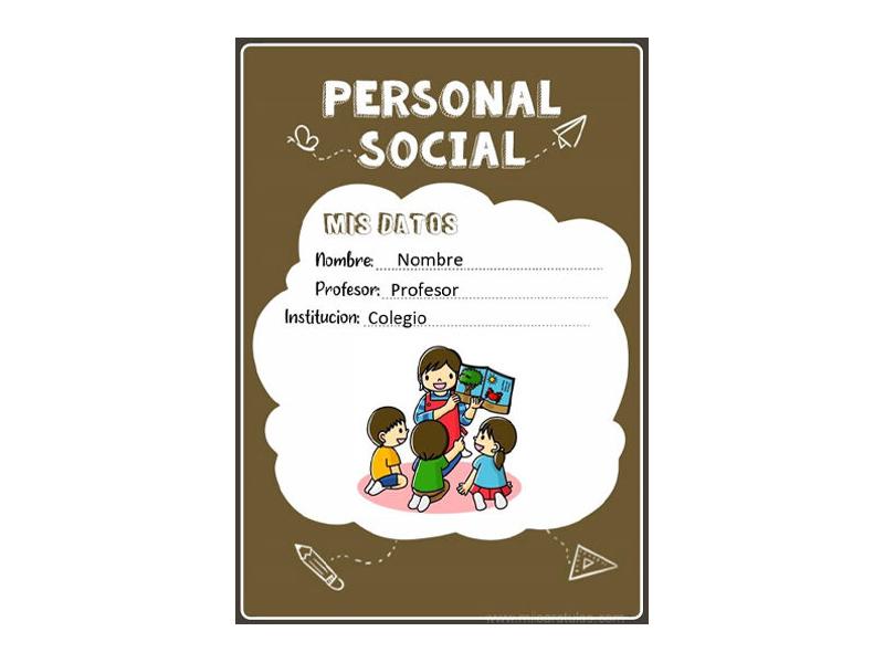 Caratula y Portada de Personal Social en Word 9