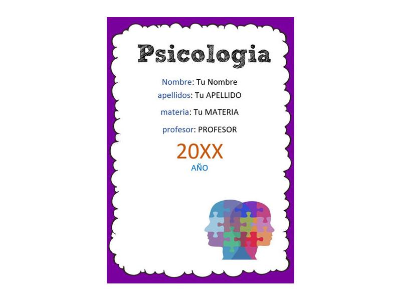 Caratula y Portada de Psicología en Word 1