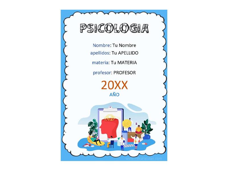 Caratula y Portada de Psicología en Word 5