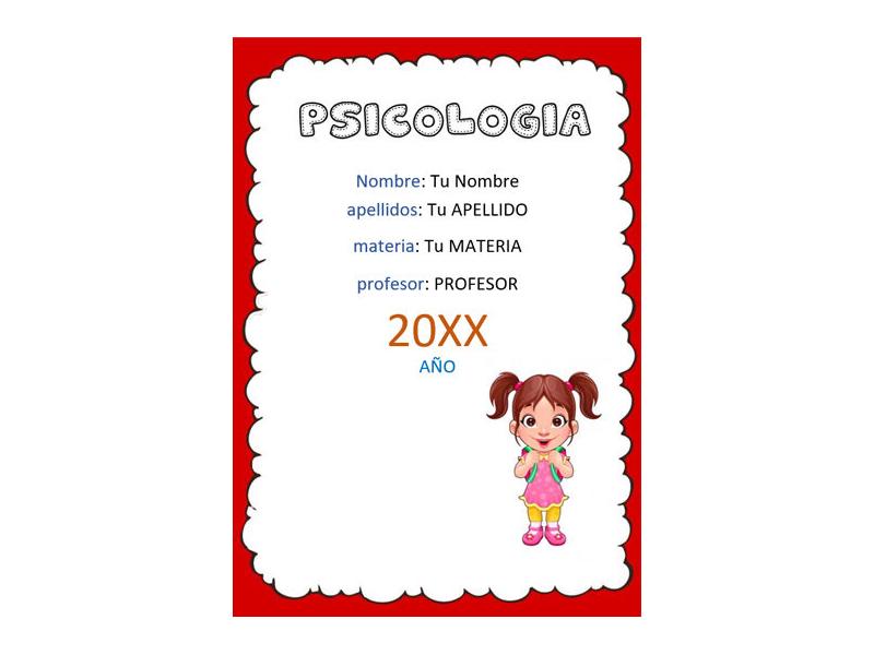 Caratula y Portada de Psicología en Word 8