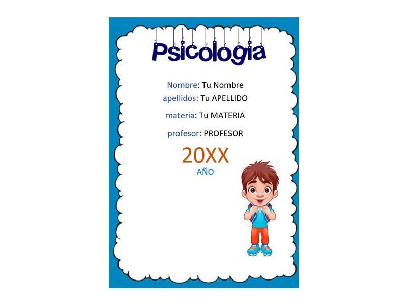 Caratula y Portada de Psicología en Word
