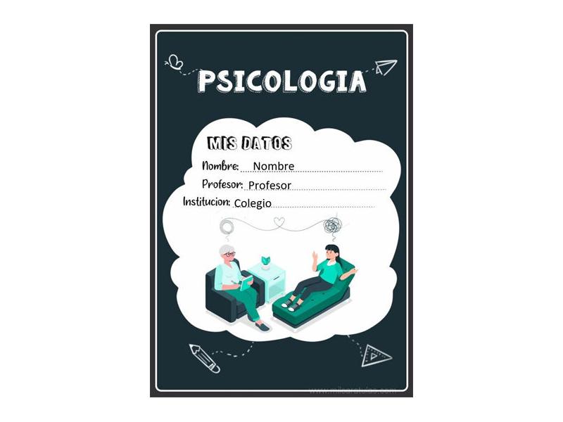 Caratula y Portada de Psicología en Word 9