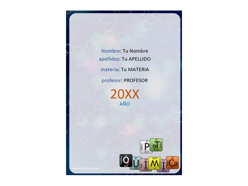 Caratula y Portada de Química en Word 15