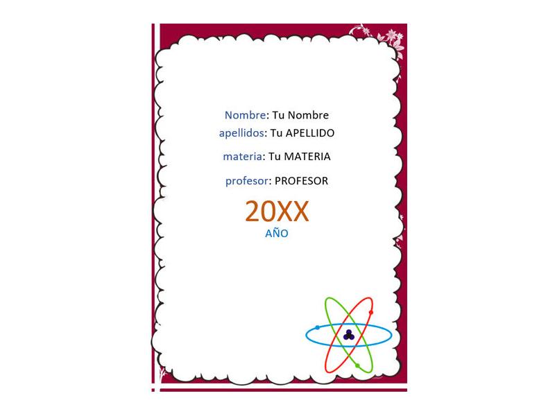 Caratula y Portada de Química en Word 19
