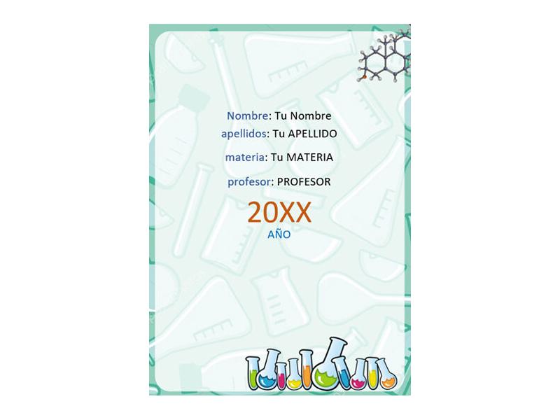 Caratula y Portada de Química en Word 5
