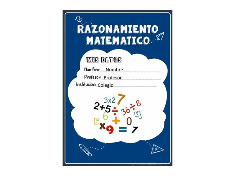Caratula y Portada de Razonamiento Matemático en Word 9