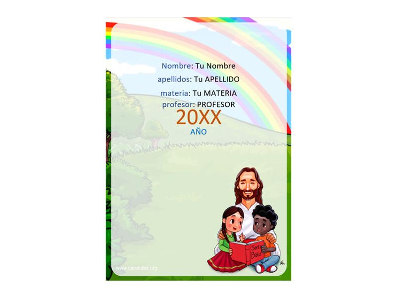 Caratula y Portada de Religión en Word 11