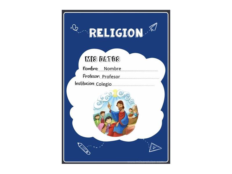 Caratula y Portada de Religión en Word 23