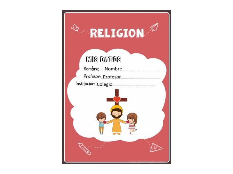 Caratula y Portada de Religión en Word 25